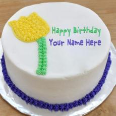 Birthday Cakes name pictures - Flower Birthday Cake