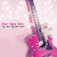 Girly Guitar - Design your own names