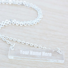 Glass Bar Necklace - Design your own names