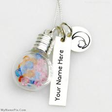 Glass Vial Necklace - Design your own names