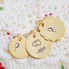 Alphabets name pictures - Golden Initial Heart Necklace