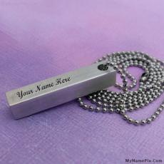 Hand Stamped Pendant - Design your own names