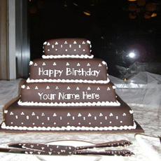 Birthday Cakes name pictures - Happy Birthday Layered Cake