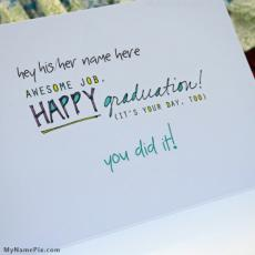 Wishes name pictures - Happy Graduation
