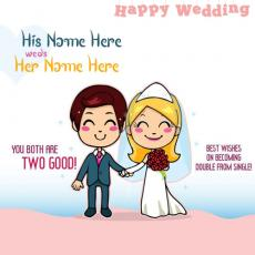 Happy Wedding - Design your own names