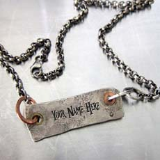 Hard Rough Necklace - Design your own names