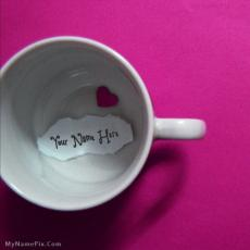 Heart Cup - Design your own names