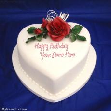 Birthday Cakes name pictures - Heart Icecream Cake