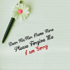 I am Sorry - Design your own names
