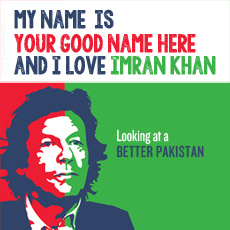 I Love Imran Khan - Design your own names