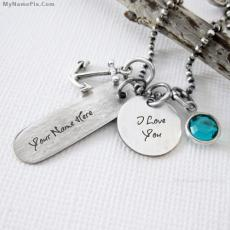 I Love You Necklace - Design your own names