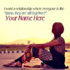 Girls name pictures - I want a relationship