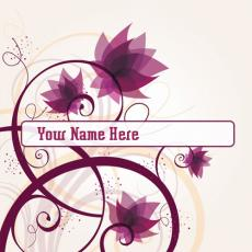 Simple name pictures - Lost Flowers