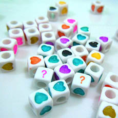 Love Heart Dice - Design your own names