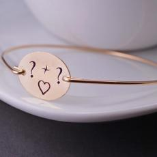 Love Heart Initial Bracelet - Design your own names