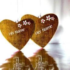 Love name pictures - Love Nick Name Hearts