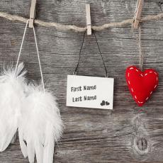 Love name pictures - Love Tag Heart and Angel Wings
