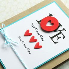 LOVE Note - Design your own names