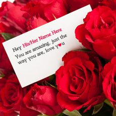 Lovely Rose Love Note - Design your own names