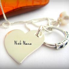 Nick Name Heart Necklace - Design your own names