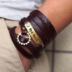 Nick Name Leather Bracelet - Design your own names