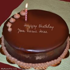 Plain Chocolate Cake - Design your own names