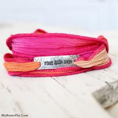 Silk Wrap Bracelets - Design your own names