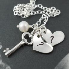 Alphabets name pictures - Silver Hearts Love Pendant