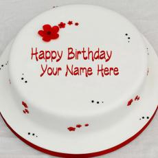 Simple Birthday Cake - Design your own names