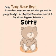 Sorry Dear Forgive Me - Design your own names