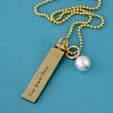 Sterling Silver Gold Filled Necklaces - Design your own names