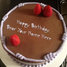 Birthday Cakes name pictures - Chocolate Strawberry Birthday Cake
