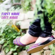 Stylish Girly Feet - Design your own names