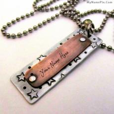 Unique Vintage Necklace - Design your own names