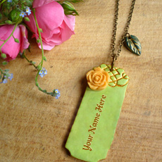 Vintage Bar Necklace - Design your own names