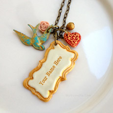 Jewelry name pictures - Vintage Frame Necklace