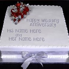 Wedding Anniversary Cake - Design your own names