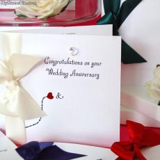 Wedding Anniversary Card - Design your own names