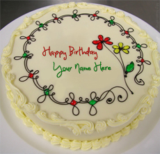 Write Name on Birthday Cake - Design your own names