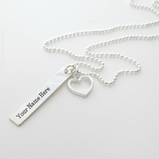Light Sliver Necklace - Design your own names