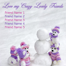 Love Crazy Friends - Design your own names