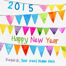 New Year Wishes name pictures - New Year 2015