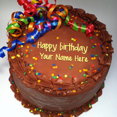 Party Birthday Cake - Design your own names