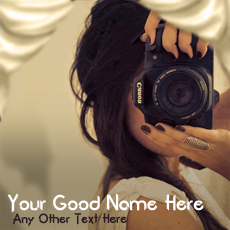 Photographer Girl - Design your own names