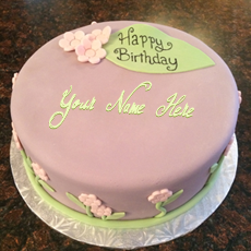Pretty Birthday Cake - Design your own names