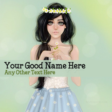 Pretty Girl Drawing - Design your own names