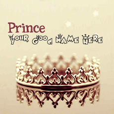Prince Crown - Design your own names