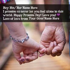 Promise Day Wishes - Design your own names
