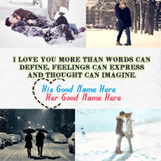 Love name pictures - Romantic Winter