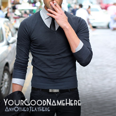 Stylish Guy Smoking - Design your own names